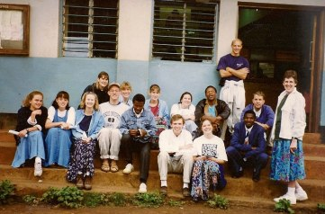 One of several missions trips to Africa.