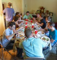 Senior Dinner May 2015 - Alpha Fellowship - AGR Fraternity guys