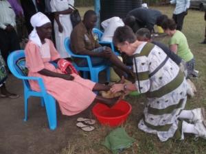 Washing feet, Orucho
